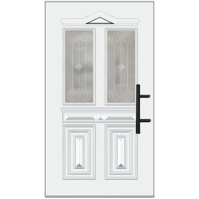 Holz-Haustür weiß